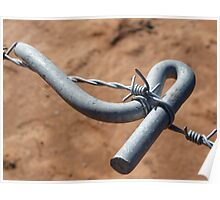 barbwire tensioner Poster