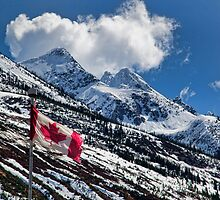Candian Flag -  Alberta's Crowsnest Pass by Carmel Williams