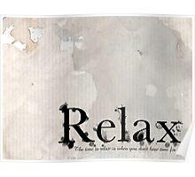 Relax - Bathroom Art Poster