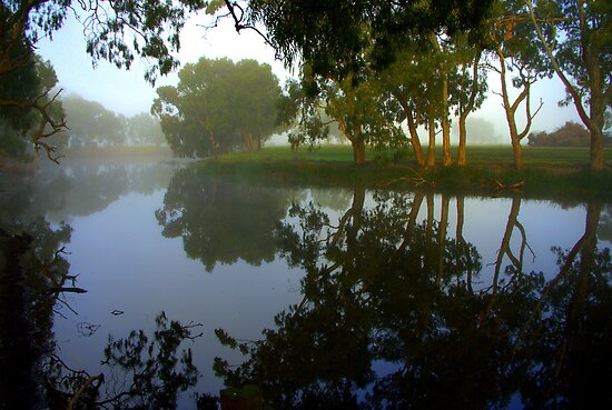 Morning over the Lagoon by Kerry  Hill