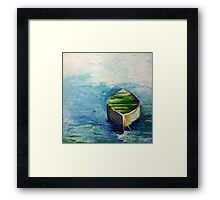 Lonely Boat. Boat painting Framed Print
