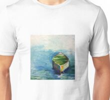 Lonely Boat. Boat painting Unisex T-Shirt