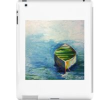 Lonely Boat. Boat painting iPad Case/Skin