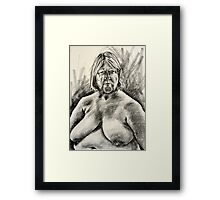 charcoal drawing 2nd april Framed Print