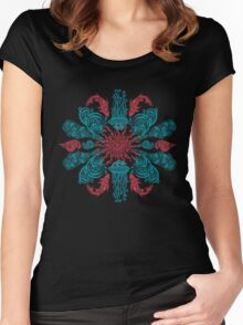 Summer Ocean Mandala  Women's Fitted Scoop T-Shirt