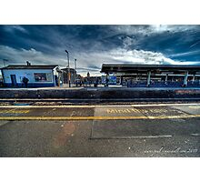 station platform Photographic Print