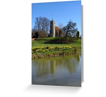 Church By The Lake, Aldham Greeting Card