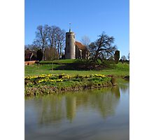 Church By The Lake, Aldham Photographic Print