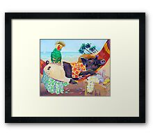 Hog Wild Post Party. Framed Print