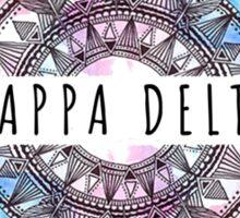 Kappa Delta Feathers Sticker