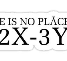 Stargate SG1 - No place like P2X-3YZ Sticker