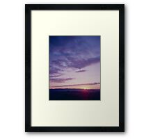 Sunset from One Tree Hill Framed Print