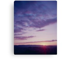 Sunset from One Tree Hill Canvas Print