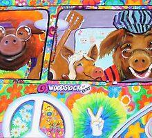 Love Child Hippie Pigs by CallieK405