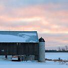 Twilight at Fertiges Barn by Geno Rugh