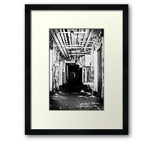 Room 3 is straight ahead Framed Print