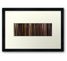 Moviebarcode: The Godfather: Part II (1974) Framed Print