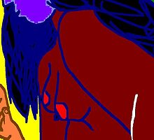 female nude -(020411)- mouse drawn/ms paint  by paulramnora