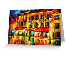 Paris, Night Montmartre Greeting Card