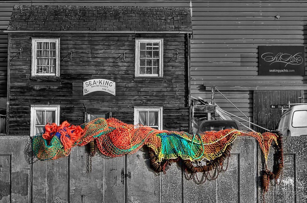 Nets Drying by timmburgess
