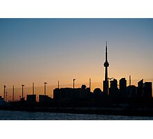 CN Tower & Polson Quay From Cherry Street Photographic Print