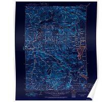 USGS Topo Map Oregon Waldo Lake 283280 1925 125000 Inverted Poster