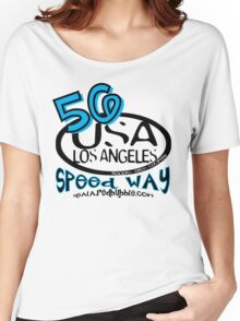 usa los angeles tshirt by rogers bros co Women's Relaxed Fit T-Shirt