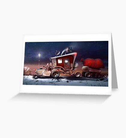My ten wheel house (christmas version) Greeting Card