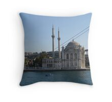 Mosque on the Bosphorus. Throw Pillow
