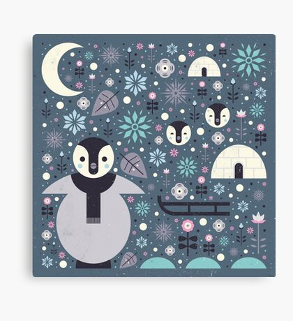 Penguin Small  Canvas Print