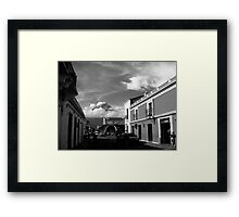 Agua Looking over Antigua Framed Print