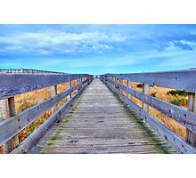 Up The Long Boardwalk Photographic Print