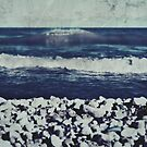 where the water meets the rocks by Angel Warda