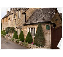 Lower Slaughter  Cotswolds  UK Poster