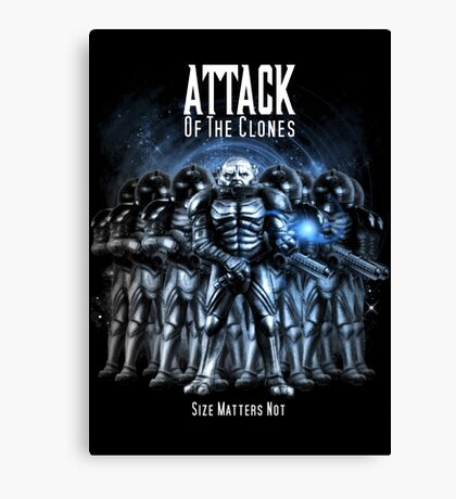 Sontaran's: Attack of the Clones - Size Matters Not Canvas Print
