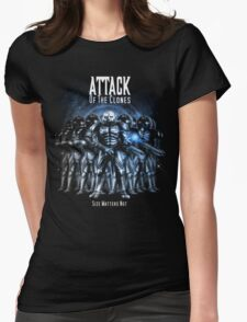 Sontaran's: Attack of the Clones - Size Matters Not Womens Fitted T-Shirt