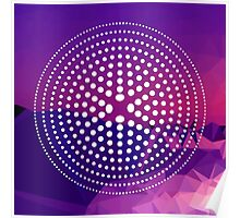Purple Circles Rockett Poster