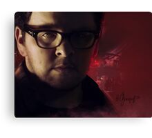 JT - Red atmosphere in a laboratory Canvas Print