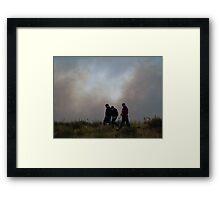 Burntree Brushfire 3/24/11  Framed Print