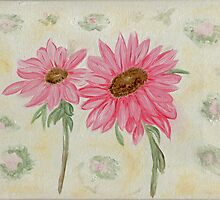 Pink Daisies by Anne Gitto