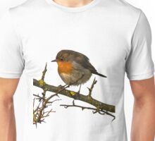 Wild Robin on a Branch Unisex T-Shirt