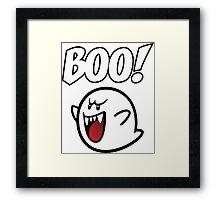 BOO Mario Ghost Framed Print