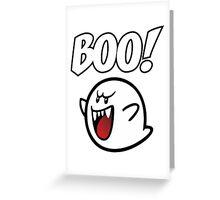 BOO Mario Ghost Greeting Card