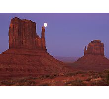 Full moon over Monument Valley Photographic Print
