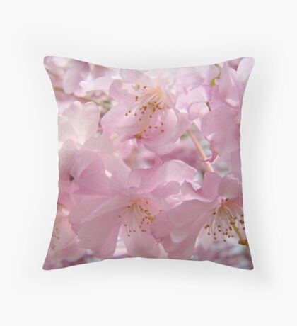 Floral Spring Flowers Landscape Fluffy Pastel Blossoms Baslee Troutman Throw Pillow