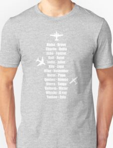 Pilot Phonetic Alphabet Military Cadet Airplanes T-Shirt