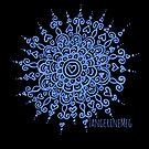 Heart Centred Mandala - blue print by TangerineMeg