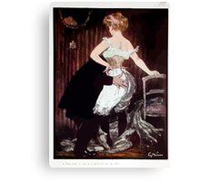 Jules Alexandre Grün Lady Underwear Canvas Print