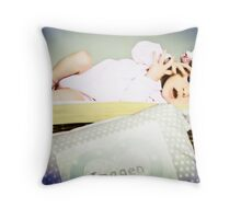 Newborn Imogen Throw Pillow