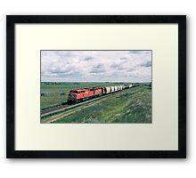Red Barn on the Prairies Framed Print